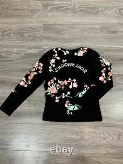 J'Adore Dior Jadore Longsleeve Top Women's Shirt Rare Floral pattern US14 F46