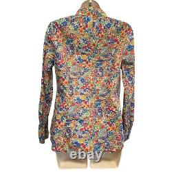 J. Crew Liberty Perfect Shirt Top In Margaret Annie Floral Size 6 #40146 2013