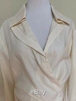 Jacquemus La Chemise Sabah Twisted Draped Long Sleeve Top Blouse 42 US 10 $549