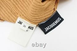 Jacquemus La Maille Figuerolles Tan Knit Long Sleeved Top Size 36 UK 8