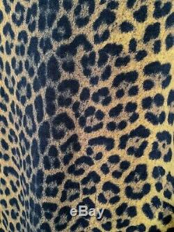 Jean Paul Gaultier 1990s High Neck Leopard Long Sleeve Top Vintage Shirt S/M