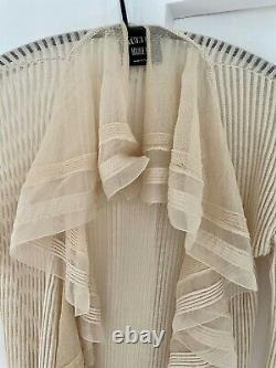 Jean Paul Gaultier Maille Femme Vintage Ivory Cardigan Top Knitwear