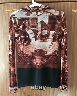 Jean Paul Gaultier Maille Mesh Top Blouse Vintage Size M