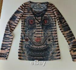 Jean Paul Gaultier Mesh Long Sleeved Top Large