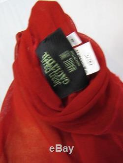 Jean Paul Gaultier Red Mesh Long Sleeve Top S zs