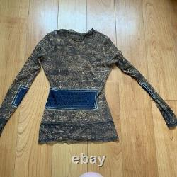 Jean Paul Gaultier Sheer Mesh Vintage 90s Top, Size Large Fits Smaller