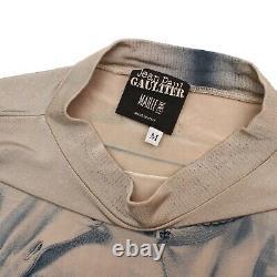 Jean Paul Gaultier Top Beige Cyan Trompe L'oeil Top Size UK 6/8