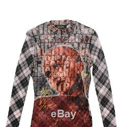 Jean-Paul Gaultier Top Multicolor AW97'Fight Racism' Long Sleeved Mesh Size M