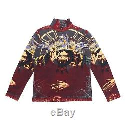 Jean-Paul Gaultier Top Multicolor Fall 1995 Face Print Long Sleeved Homme Size M
