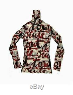 Jean Paul Gaultier Tout De Suite Sheer Mesh Club Kid Long Sleeve Turtleneck Top