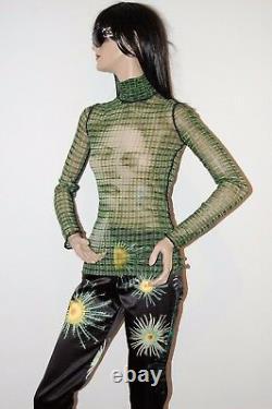 Jean Paul Gaultier Vintage Op Art Woman Face Portrait Top