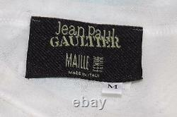 Jean Paul Gaultier Vintage Portrait and Mouth Applique Mesh Top