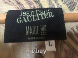 Jean Paul Gaultier iconic mesh butterfly print top Spring 94 collection