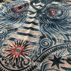 Jean Paul Gaultier x Lindex Size Small Sheer Nude Tribal Tattoo Long Sleeve Top