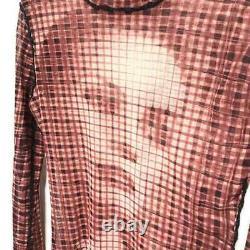 Jean paul gaultier femme mesh tops long sleeve shirt size 40