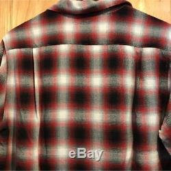 Joe McCoy Plaid Long-Sleeved Shirt Men's Tops Size 15-15 1/2