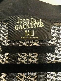 John Paul Gaultier Black See Through Shirt, Top, Size L