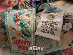 Johnny Was Floral Long Sleeve Tunic Top Blouse M