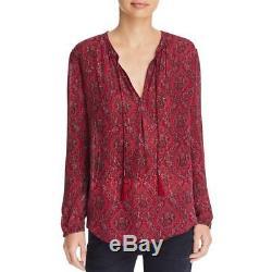 Joie 2875 Womens Calla Silk Printed Long Sleeves Peasant Top Blouse BHFO