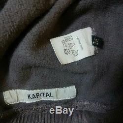 KAPITAL Damage-Processing Long-Sleeved Sweatshirt Men's Tops Size 2