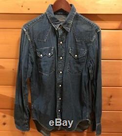 KAPITAL Denim Jean Long-Sleeved Shirt Men's Tops Size 3