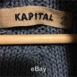 KAPITAL Long-Sleeved Knit Cardigan Sweater Men's Tops Size 2