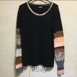 KAPITAL Long-Sleeved T-Shirt Tee Black Men's Tops Size 2