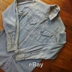 KAPITAL Men's Tops Dungaree Long-Sleeved Shirt Size 2