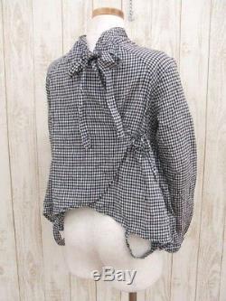 KAPITAL Tops Blouse Gingham check Long sleeve Shirt Black White Women Japan F/S