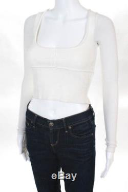 Khaite White Long Sleeve Scoop Neck Blouse Top Size XS NEW $860