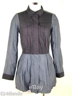 LOUIS VUITTON Wool Blend Cotton Angora Longsleeve Dress Top Blouse Small 2 3 4