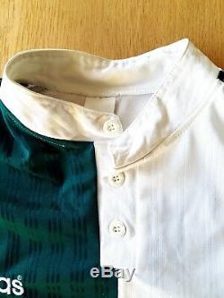 Liverpool Away Shirt 1995. XL. Adidas. Green Adults Long Sleeves Football Top