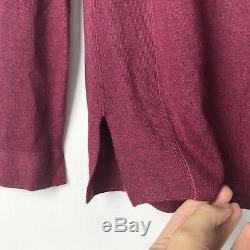 Loro Piana Crewneck Purple/Pink Cashmere Long Sleeve Sweater Top Blouse Sz 42/6
