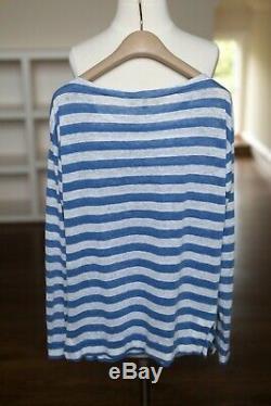 Loro Piana Linen Shirt Striped Long sleeve Top Size IT40 S
