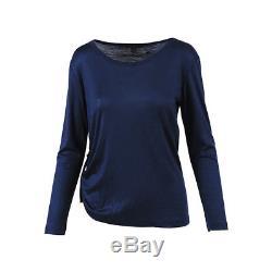 Louis Vuitton Blue Wool Velvet Long Sleeve Top SZ S