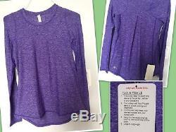Lululemon Sz 6 Tuck And Flow Long Sleeve Bruised Berry Purple Pullover Top Rulu