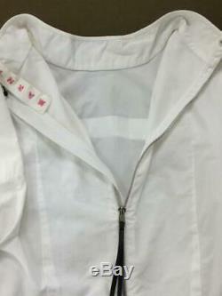 MARNI Long Sleeve Top Size 36 White Cotton Back Zipper Blouse Shirt Women's FS