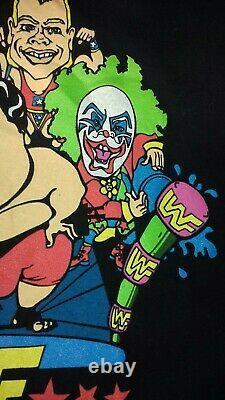 MEGA RARE Vintage 1994 WWF Cartoon STYLE LONG SLEEVE Shirt TOP, SIZE XL