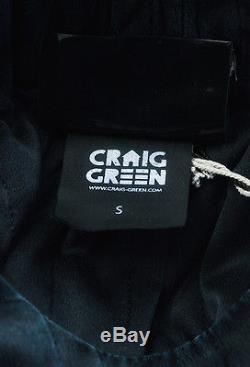MENS Craig Green NWT Black Silk Quilted Long Sleeve Shirt Top SZ S