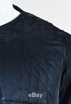 MENS Craig Green NWT Black Silk Quilted Long Sleeve Shirt Top SZ XXS
