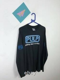 MENS VINTAGE 90s PULP SORTED FOR ES AND WIZZ LONG SLEEVE T SHIRT TOP SIZE XL