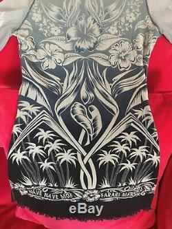 MINT condition Jean Paul Gaultier Mesh Long sleeved top Tattoo/Floral Size M