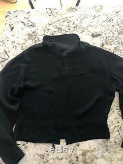MIU MIU Blouse Women's Size M, Black Long Sleeve Sheer Top barely worn