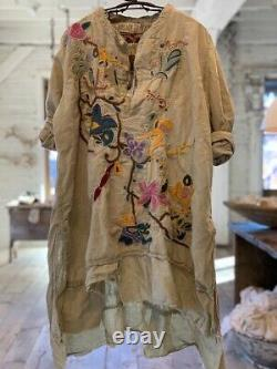 Magnolia Pearl Embroidered Gypsy Johnny Shirt Top 907 Agave