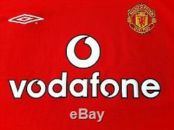 Manchester United BNWT Home Shirt 2000. Large Umbro. Red Adults Long Sleeves Top