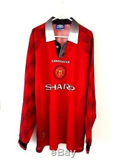 best service 75777 19440 Manchester United Home Shirt 1996. Xl. Long Sleeves Umbro ...