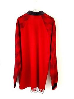 Manchester United Home Shirt 1996. XL. Long Sleeves Umbro Red Man Utd Top Only