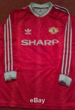 Manchester United Long Sleeve Home Shirt 1990 1991 1992'class Of 92' Top