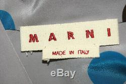 Marni Polka Dot Long Sleeves Ribben Neck Front Button Blouse Top Size 46
