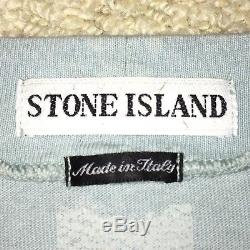 Mens Vintage Pre 2000 Stone Island Green Edge Badge Longsleeve Top (L Large)